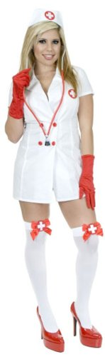 Sexy Adult Nurse Costume (Size:X-large 14-16)