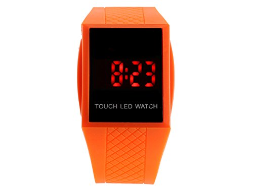 Egoodbest Band Watch Fashion Magic Led Digital Touch Screen Colorful Silicone Unisex Sport Watch