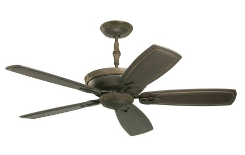 Emerson Cf830Ges Monaco Indoor Ceiling Fan, 60-Inch Blade Span, Golden Espresso Finish And Vintage Black Hand Carved Blades