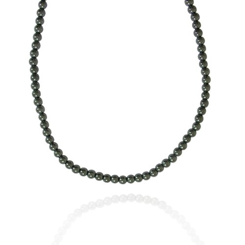 4mm Round Hematite Bead Necklace, 50