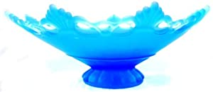 Westmoreland Ring and Petal Blue Satin Lace Edge Footed Bowl