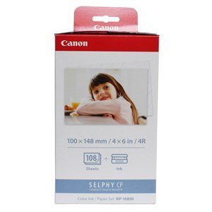 Canon KP-108IN Color Ink Cartridge. KP-108IN 108-SHEET 4X6IN & CLR INK/RIBBON FOR SELPHY CP760 CP770. Inkjet - Color