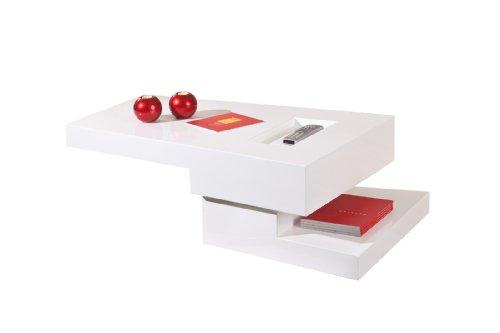 20800710 Couchtisch weiß hochglanz Wohnzimmertisch Wohnzimmer Tisch Design modern drehbar
