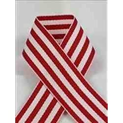 Schiff Ribbons 44207-9 50-Yard Candy Stripe Ribbon, 1-1/2-Inch, Red/White Stripe