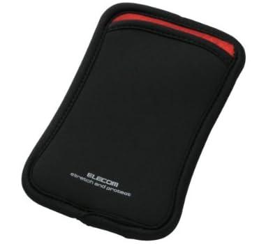ELECOMスマートフォン用ポーチ スリップインタイプ 5インチ対応 ブラック P-02SNCBK