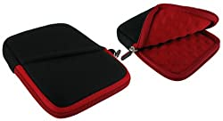 rooCASE Super Bubble Neoprene (Red / Black) Sleeve Case for Seagate FreeAgent GoFlex 1.5TB Ultra-portable Drive USB 3.0 STAA1500100 Black