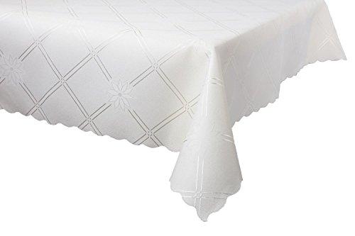 Dkaren-Elegante-Wasserabweisendes-Tischdecke-Tischtuch-fr-jeden-Anlass-Sonnenblume-O502-Creme-140x350cm