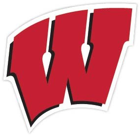 Wisconsin W Badgers NCAA Vinyl Sticker Decal 5