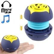 Hamburg Style Retractable Mini Speaker with 3.5mm Jack Cable and Earphone Port, Built-in Rechargeable Lithium Battery
