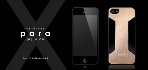 Best Price Para Blaze X for iPhone 5 (Rose Gold/Glossy Black)