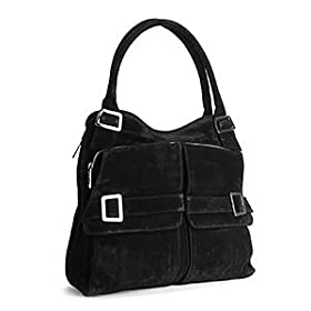 Kooba Vanessa Tote Bag in Black Suede
