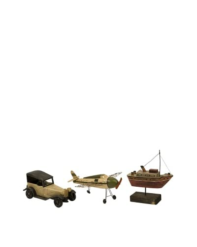Expedition Set of 3 Wright Air, Water and Land Transportation Models, Multi