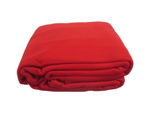 Dada Bedding Blsr Solid Polar Fleece Blanket, King, Red front-906407