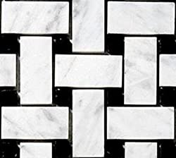 Carrara Venato Honed Basketweave (Sample)
