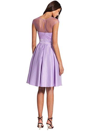 Dressesinstock Women's A-line Neck Tulle Short/Mini Bridesmaid Dress
