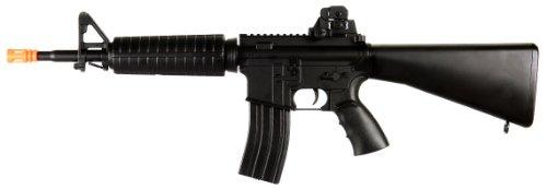 Well D3804 M4 Aeg Electric Airsoft Gun Full Auto Assault Rifle Fps-260 Comes W/ Top Ris Rail, High Capacity Magazine
