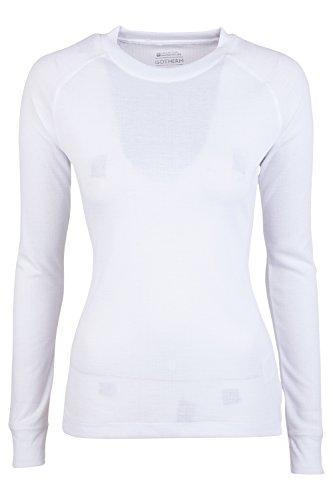 Mountain Warehouse Maglietta Girocollo da Donna a Maniche Lunghe Talus Bianco 44