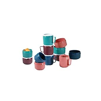 "Dinex DX4M56 Tradition Urethane Foam Insulated Mug, 3-3/8"" Diameter x 3-1/2"" Height, 8oz Capacity, Mauve (Case of 48)"