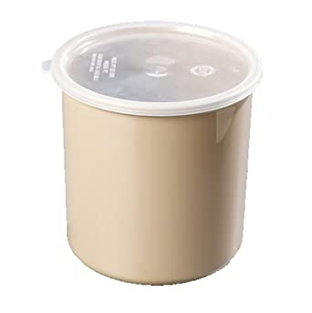 Carlisle 0302-306 Classic Crock with Lid, 2.7-quart, Beige (Case of 3)