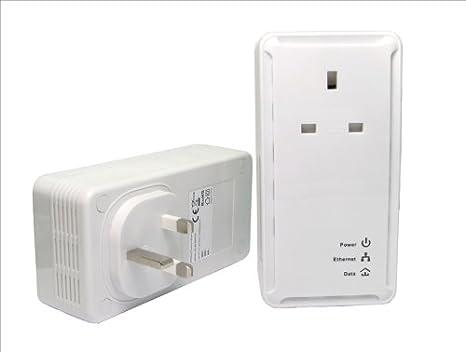 200mbps Pass Par Ethernet HomePlug adaptateur Entrée Kit