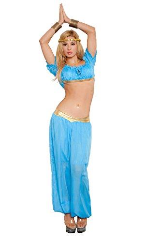 Women's 3-Piece Genie Costume Blue (M/L) (2)