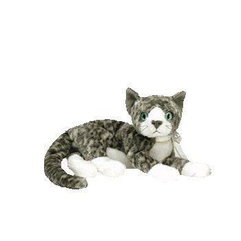 Ty Beanies Babies - Purr the Grey and White Cat [Toy]