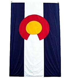 Colorado US State Flag: 3x5foot poly