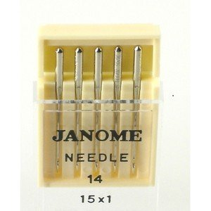 Buy Discount Janome Sewing Machine Needle Universal Size 14 in 5 Needles per Pack