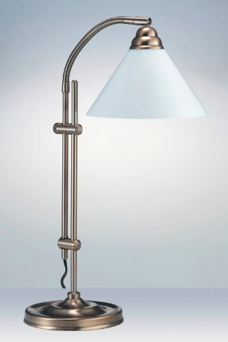 Ultimate Desk Lamp, Reading Lamp in Antique Gold with 20w Energy Saving Daylight Bulb