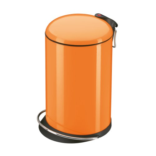 Hailo Trento Top Design 0516-580 Pedal Bin 16 L Mandarin Orange