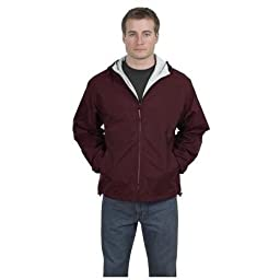 Port Authority - Team Jacket, 3XL, Maroon and Light Oxford