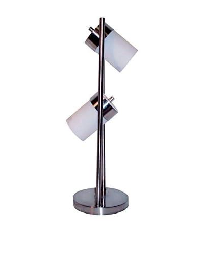 ORE International 2-Light Adjustable Table Lamp, White