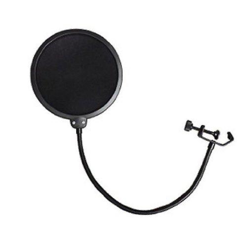 "360° Flexible Gooseneck Holder Studio Microphone Mic Defense Against Distorting ""P"" And ""B"" Consonants Wind Screen Pop Filter/ Swivel Mount"