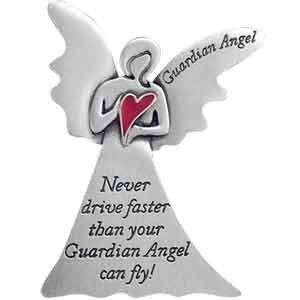 Auto-VISOR-Clip-GUARDIAN-ANGEL-with-Red-HEART-NEVER-Drive-Faster-Than-Your-Guardian-Angel-Can-FLY-CAR-AUTOMOBILESentimentGIFT-PARENTSNew-DRIVERS