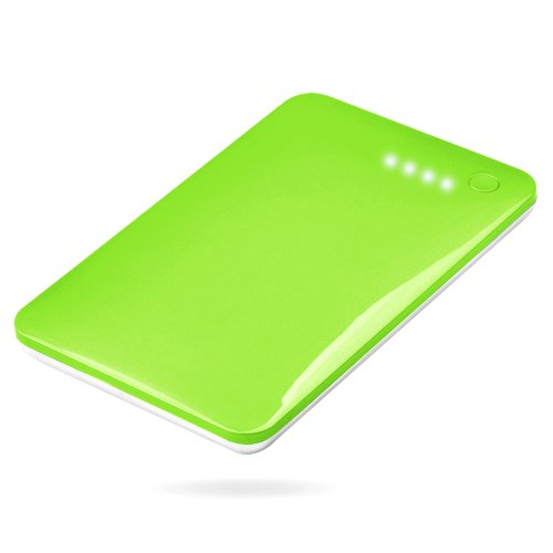 Andream 10000Mah Ultra-Thin 0.43 Inches External Lithium Polymer Battery Charger Under Security Protection Green Lp-1004A