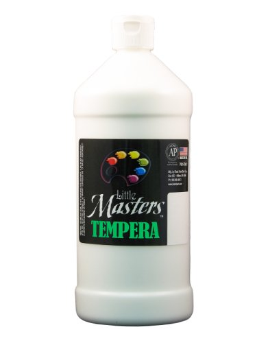 Little Masters by Rock Paint 203-705 Tempera Paint, 1, White, 32-Ounce