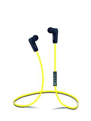 New Sport Music Wireless Bluetooth 4.0 Headset Stereo Earbuds Headphones With In-Line Microphone, Built In Li-Battery, Bluetooth 4.0 + Apt-X Music With A2Dp Technology, Noise Cancellation Technology, Black (Yellow)