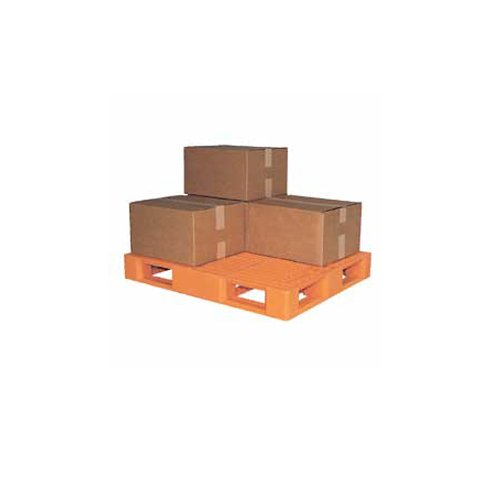 Vestil PLP2-4840-ORANGE Polyethylene Pallet with 4 Way Entry, 6600 lbs Capacity, 40