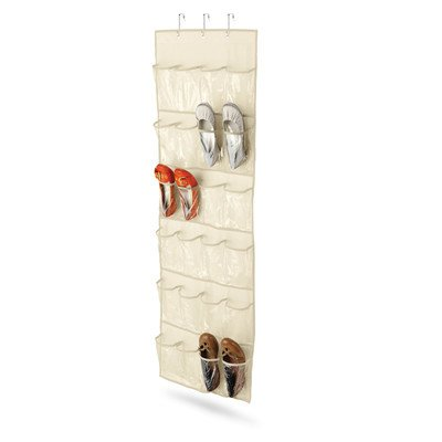 24 Pocket Over The Door Shoe Organizer [set Of 2] Finish: Natural By Honey-can-do