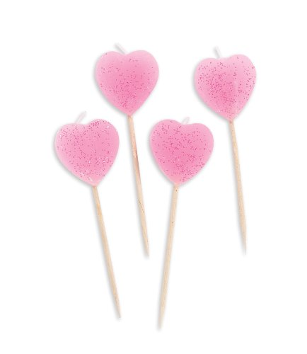 Heart Pick Candles (10) Party Supplies