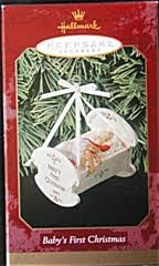 BABY'S FIRST CHRISTMAS CRADLE HALLMARK 1999