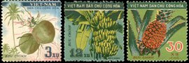 Vietnam Stamps - 1959, Sc 106-8, VN Code # 59, Tropical fruits, MNH, F-VF