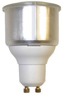 4 x 11w GU10 ENERGY SAVING LIGHT BULBS CFL Cool White