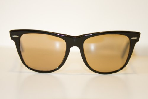 Ray-Ban Wayfarer Set Wayfarer II Sunglasses (Ebony with B-15 Mirrored Lenses)
