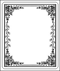 Laser and inkjet bookplates elegant border for Free printable bookplates templates