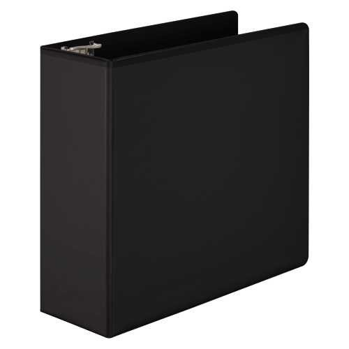 Wilson Jones Basic D-Ring View Binder, PVC-Free, 4-Inch Capacity, Letter Size, Black (W386-54BA)