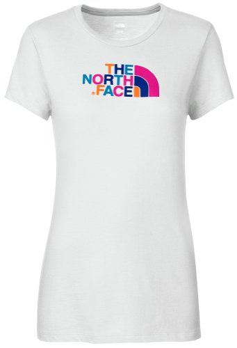 The North Face Womens S/S Half Dome Tee TNF White/Azalea