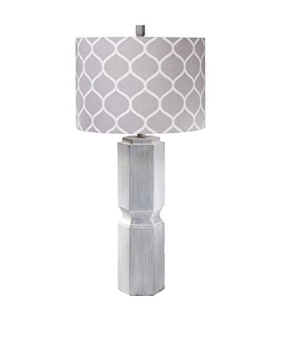 Surya Sandy Table Lamp, Washed Gray