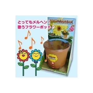 Singing Flower Pot with Built in Moisture Sensor