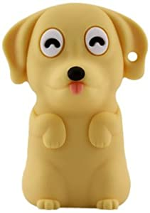 Bone Collection 4GB USB Flash Dog Drive, Yellow